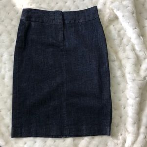 J. Crew Stretch Denim Pencil Skirt